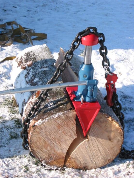 Hydraulischer Holzspalter