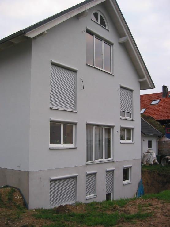Hausfassade vor der Montage