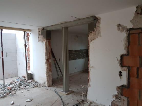 Verbreiterung Türloch durch eine tragende Wand