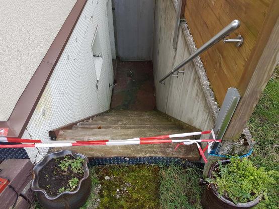 Bautreppe in Kellerloch